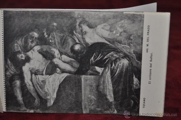 Postales: ALBUM DE ANTIGUAS POSTALES CUADROS DE TIZIANO. MUSEO DEL PRADO. FOT. LACOSTE. 24 TARJETAS - Foto 8 - 41331607