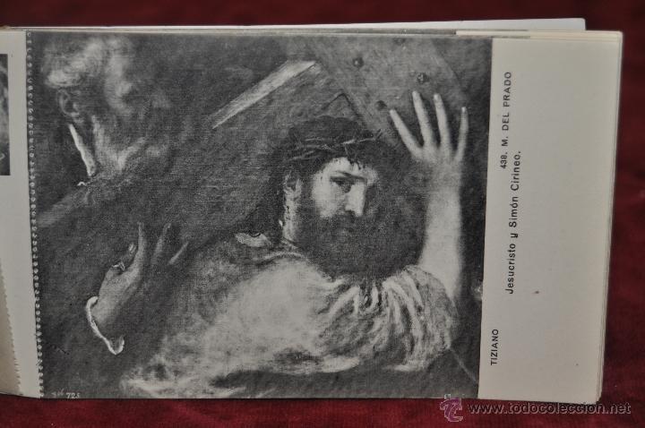 Postales: ALBUM DE ANTIGUAS POSTALES CUADROS DE TIZIANO. MUSEO DEL PRADO. FOT. LACOSTE. 24 TARJETAS - Foto 10 - 41331607
