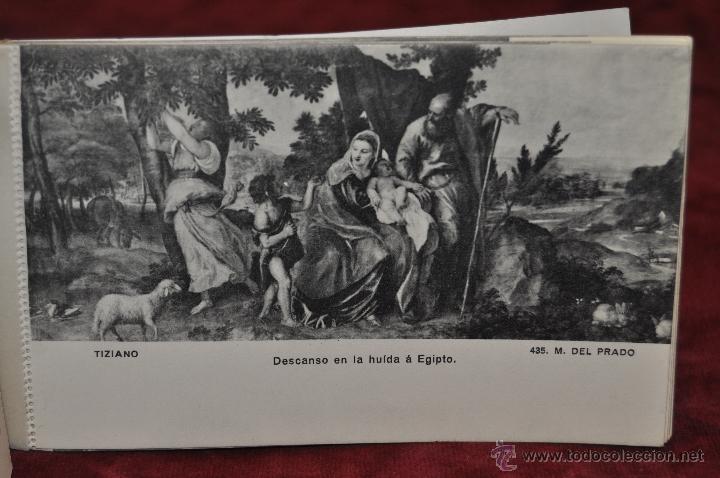 Postales: ALBUM DE ANTIGUAS POSTALES CUADROS DE TIZIANO. MUSEO DEL PRADO. FOT. LACOSTE. 24 TARJETAS - Foto 11 - 41331607