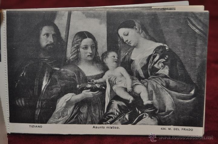 Postales: ALBUM DE ANTIGUAS POSTALES CUADROS DE TIZIANO. MUSEO DEL PRADO. FOT. LACOSTE. 24 TARJETAS - Foto 12 - 41331607