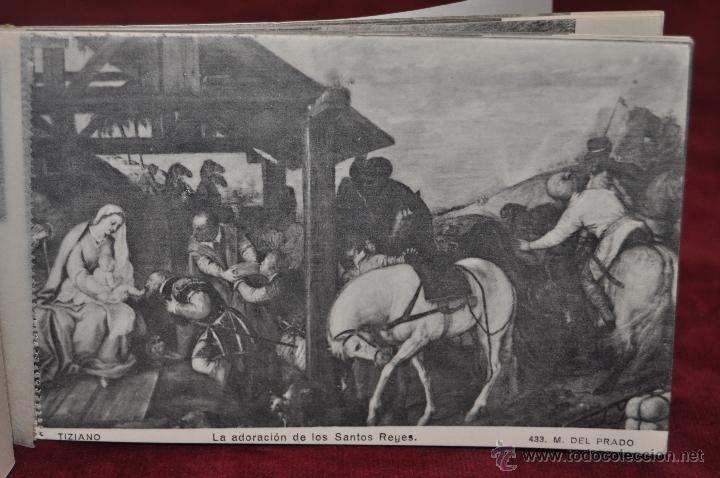 Postales: ALBUM DE ANTIGUAS POSTALES CUADROS DE TIZIANO. MUSEO DEL PRADO. FOT. LACOSTE. 24 TARJETAS - Foto 13 - 41331607