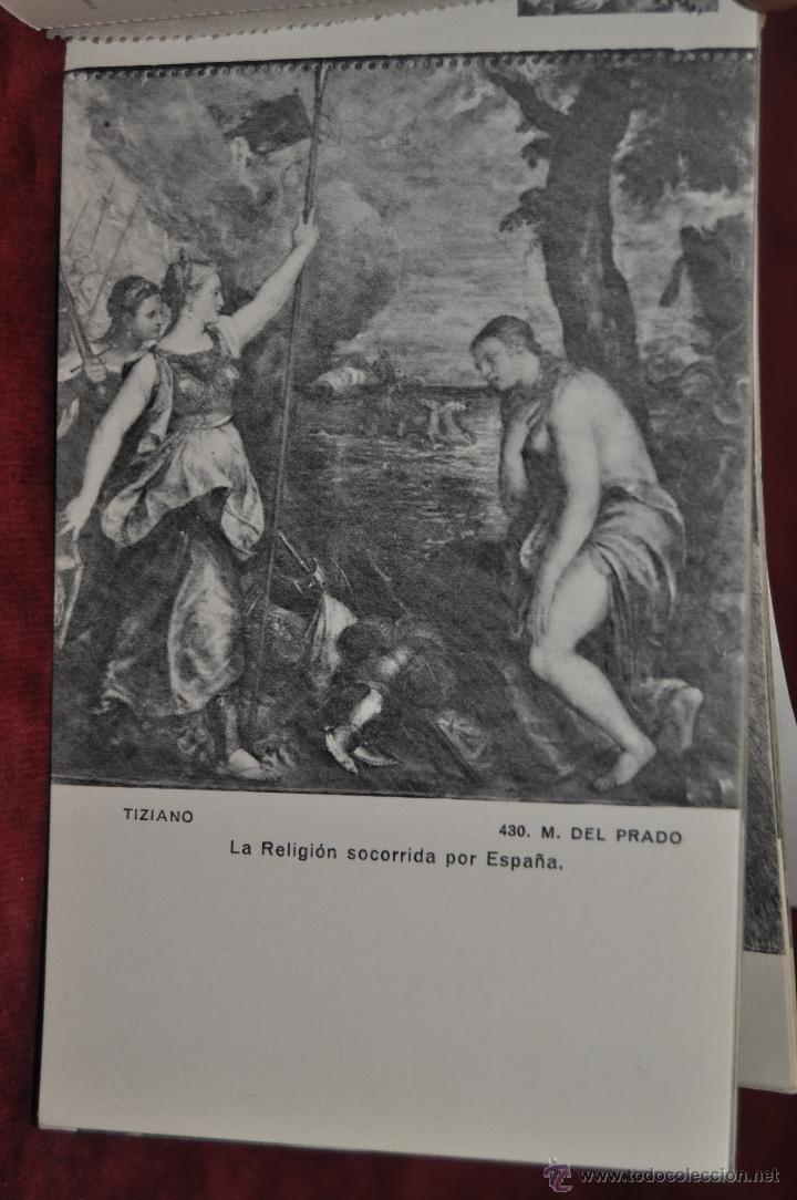 Postales: ALBUM DE ANTIGUAS POSTALES CUADROS DE TIZIANO. MUSEO DEL PRADO. FOT. LACOSTE. 24 TARJETAS - Foto 14 - 41331607