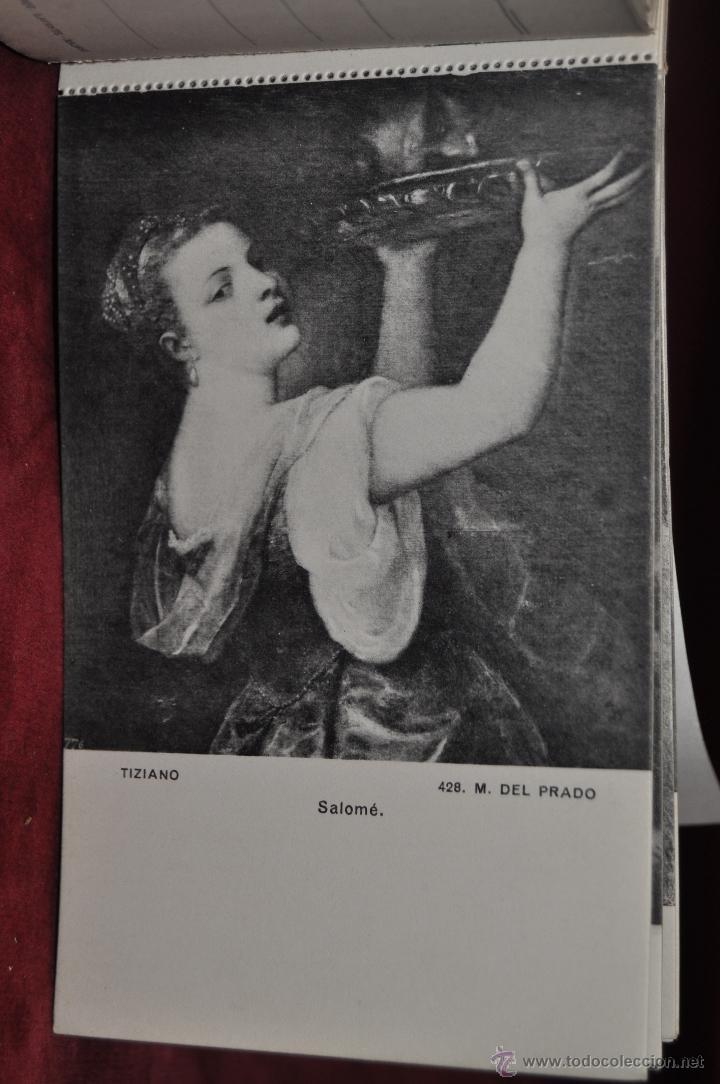 Postales: ALBUM DE ANTIGUAS POSTALES CUADROS DE TIZIANO. MUSEO DEL PRADO. FOT. LACOSTE. 24 TARJETAS - Foto 15 - 41331607