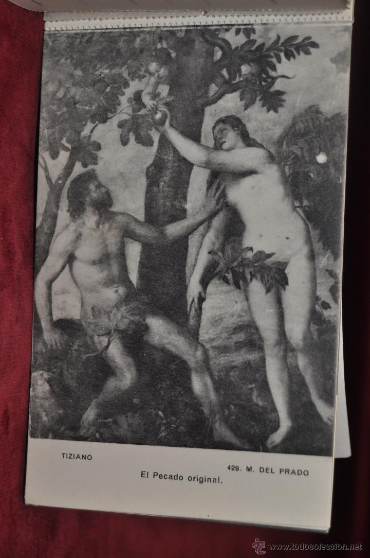 Postales: ALBUM DE ANTIGUAS POSTALES CUADROS DE TIZIANO. MUSEO DEL PRADO. FOT. LACOSTE. 24 TARJETAS - Foto 16 - 41331607