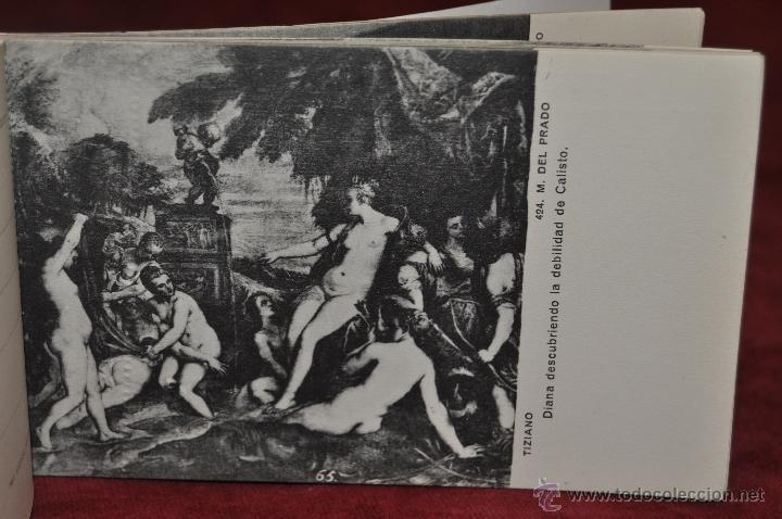 Postales: ALBUM DE ANTIGUAS POSTALES CUADROS DE TIZIANO. MUSEO DEL PRADO. FOT. LACOSTE. 24 TARJETAS - Foto 18 - 41331607