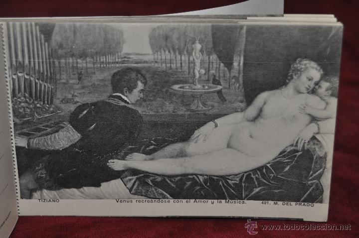 Postales: ALBUM DE ANTIGUAS POSTALES CUADROS DE TIZIANO. MUSEO DEL PRADO. FOT. LACOSTE. 24 TARJETAS - Foto 19 - 41331607