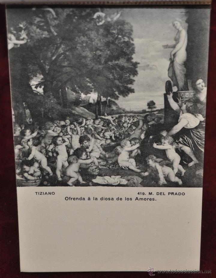 Postales: ALBUM DE ANTIGUAS POSTALES CUADROS DE TIZIANO. MUSEO DEL PRADO. FOT. LACOSTE. 24 TARJETAS - Foto 22 - 41331607