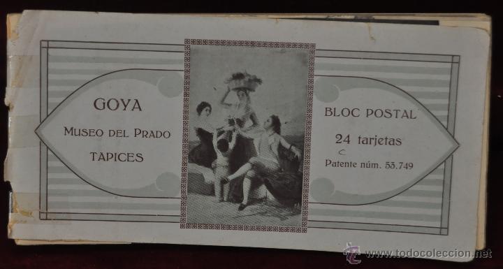 ALBUM DE ANTIGUAS POSTALES GOYA. TAPICES. MUSEO DEL PRADO. FOT. LACOSTE. 24 TARJETAS (Postales - Postales Temáticas - Arte)