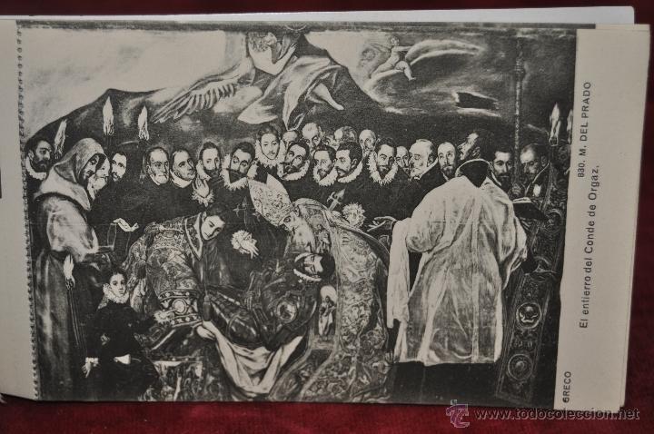 Postales: ALBUM DE ANTIGUAS POSTALES CUADROS DEL GRECO. MUSEO DEL PRADO. FOT. LACOSTE. 12 TARJETAS - Foto 3 - 41333302