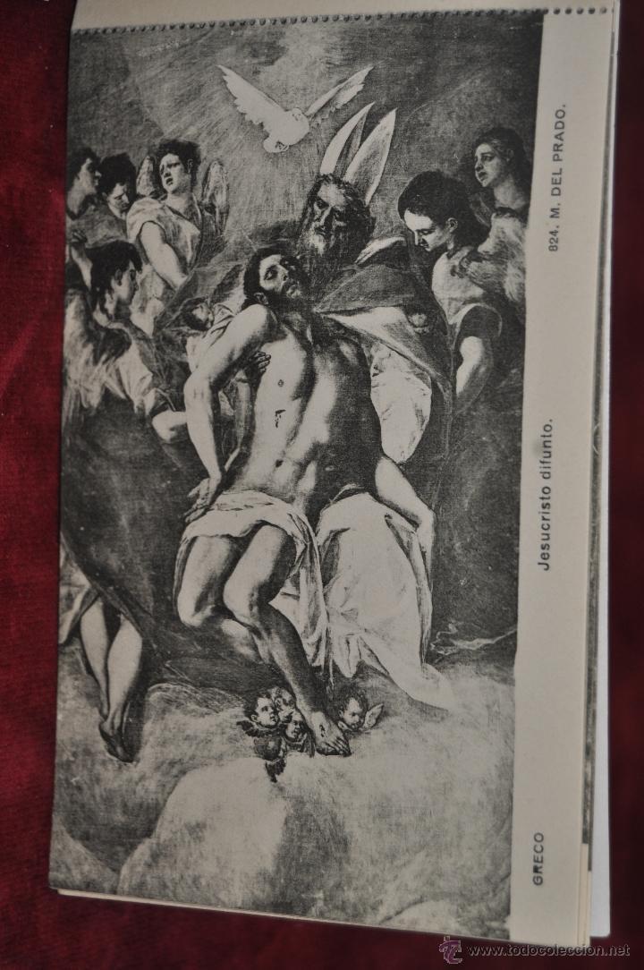Postales: ALBUM DE ANTIGUAS POSTALES CUADROS DEL GRECO. MUSEO DEL PRADO. FOT. LACOSTE. 12 TARJETAS - Foto 5 - 41333302
