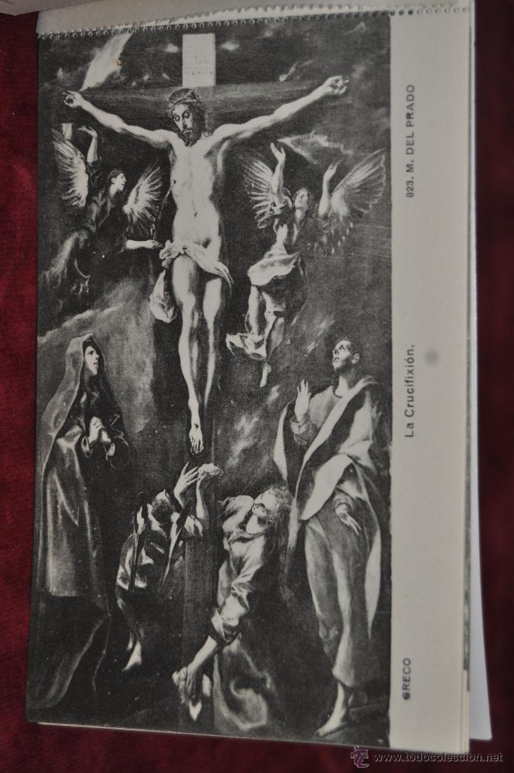 Postales: ALBUM DE ANTIGUAS POSTALES CUADROS DEL GRECO. MUSEO DEL PRADO. FOT. LACOSTE. 12 TARJETAS - Foto 6 - 41333302