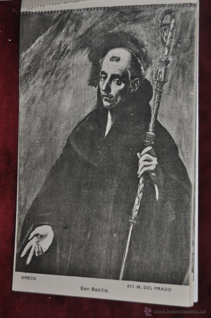 Postales: ALBUM DE ANTIGUAS POSTALES CUADROS DEL GRECO. MUSEO DEL PRADO. FOT. LACOSTE. 12 TARJETAS - Foto 8 - 41333302