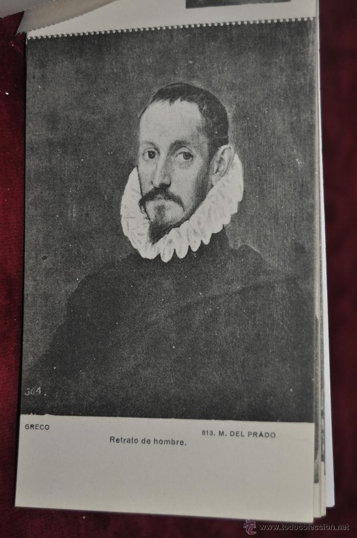 Postales: ALBUM DE ANTIGUAS POSTALES CUADROS DEL GRECO. MUSEO DEL PRADO. FOT. LACOSTE. 12 TARJETAS - Foto 9 - 41333302