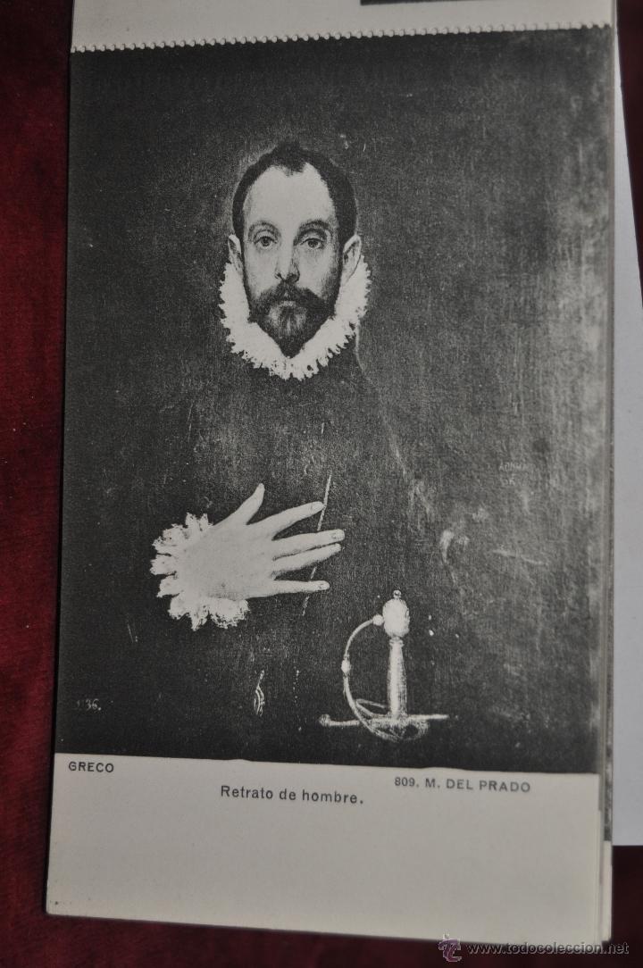Postales: ALBUM DE ANTIGUAS POSTALES CUADROS DEL GRECO. MUSEO DEL PRADO. FOT. LACOSTE. 12 TARJETAS - Foto 11 - 41333302