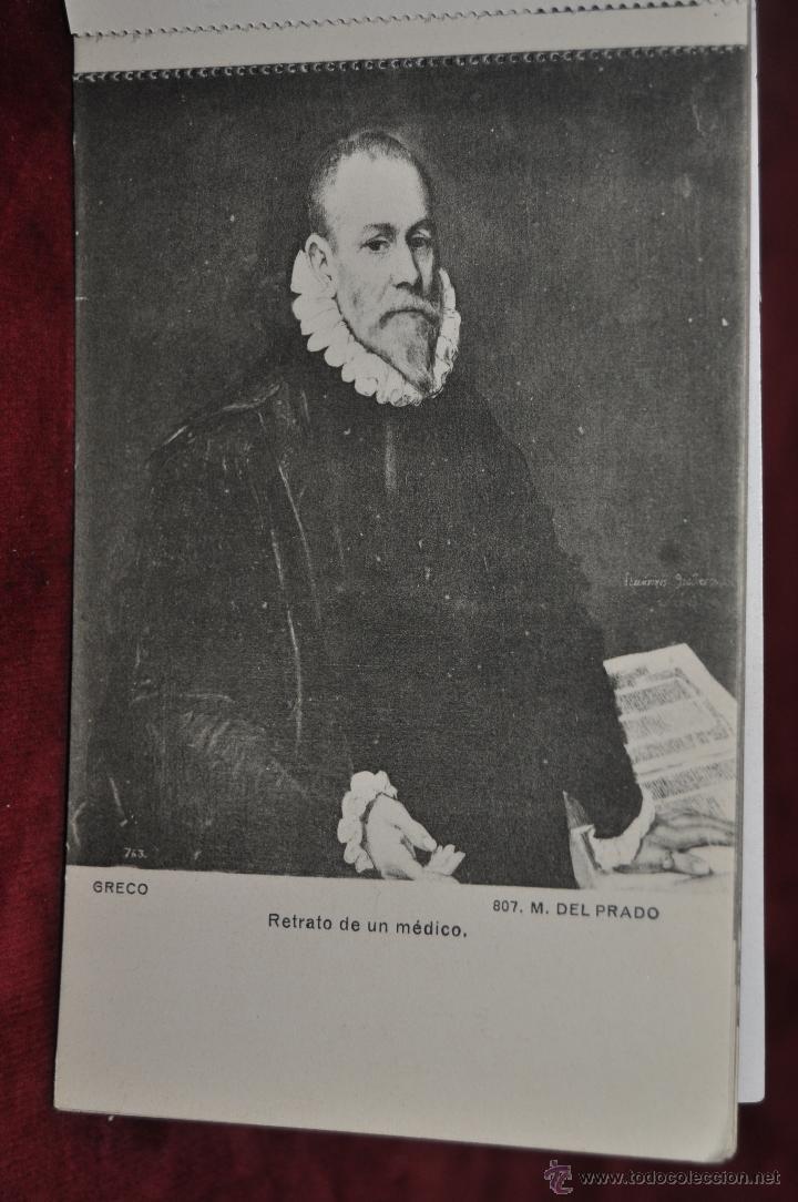 Postales: ALBUM DE ANTIGUAS POSTALES CUADROS DEL GRECO. MUSEO DEL PRADO. FOT. LACOSTE. 12 TARJETAS - Foto 12 - 41333302