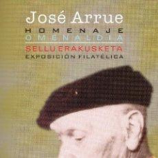Postales: DOCUMENTO POSTAL DE JOSE ARRUE CON DOS POSTALES. Lote 183209966