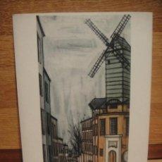 Postales: BERNARD BUFFET - PARIS EL MOLINO DE LA GALETTE. Lote 42015809