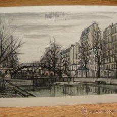 Postales: BERNARD BUFFET - PARIS , EL CANAL SAN MARTIN. Lote 42016380