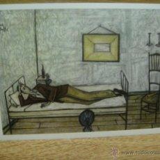 Postales: BERNARD BUFFET - HOMBRE ACOSTADO. Lote 42016617