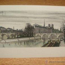 Postales: BERNARD BUFFET - PARIS , LE VERT GALANT. Lote 42016672