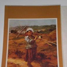 Postales: POSTAL ANTIGUA A ESTRENAR , EDICIONES BUSQUETS , MOTIVO CUADRO LEON AUGUSTIN LHERMITTE 1844-1925. Lote 42186691