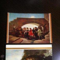 Postales: LOTE 2 POSTALES GOYA. Nº94 LABODA Y Nº 109 PEREGRINACIÓN A LA FUENTE DE SAN ISIDRO. MUSEO DEL PRADO.. Lote 42534386