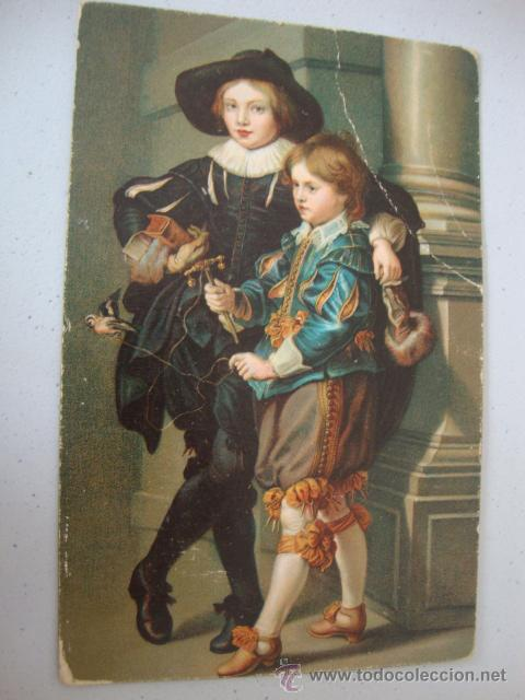 ANTIGUA POSTAL 100X100 ORIGINAL DE LOS AÑOS 20 (Postales - Postales Temáticas - Arte)