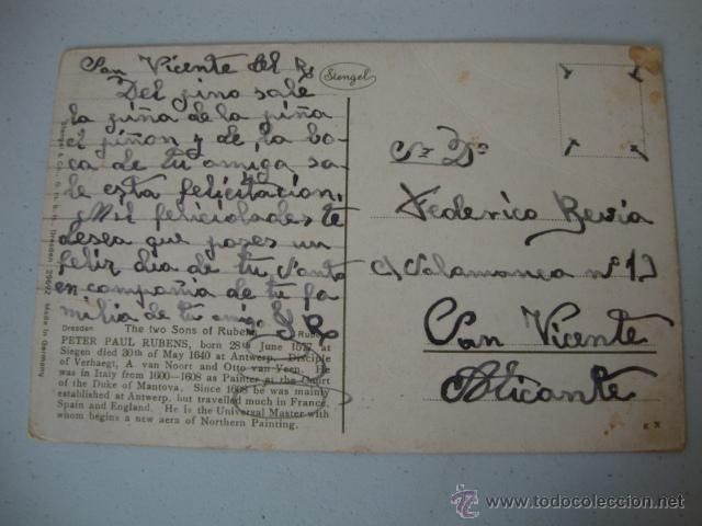 Postales: ANTIGUA POSTAL 100X100 ORIGINAL DE LOS AÑOS 20 - Foto 2 - 42544169