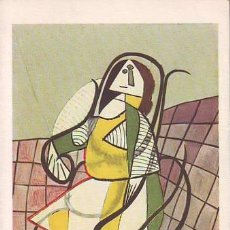 Postales: PICASSO: FEMME ASSISE DANS UN ROCKING-CHAIR. WOMAN IN A ROCKING-CHAIR. MUJER EN UNA MECEDORA. Lote 42601433