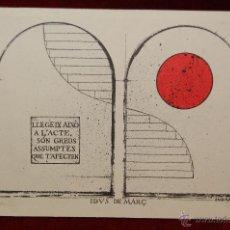 Postales: POSTAL DE CERCLE CARTOFIL DE CATALUNYA. SERIE B-Nº 3. J.Mª SUBIRACHS. EDICION LIMITADA DE 100. Lote 42646513