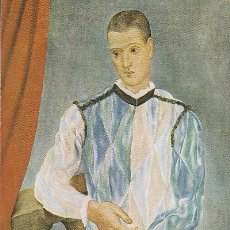 Postales: PICASSO, ARLEQUIN (1917). Lote 42960243