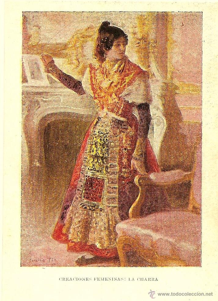 POSTAL DE LA REVISTA BLANCO Y NEGRO DIBUJADA POR CECILIO PLA - CREACIONES FEMENINAS LA CHARRA - S/C (Postales - Postales Temáticas - Arte)