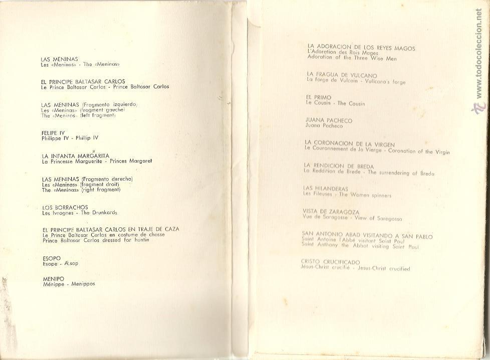 Postales: 20 POSTALES DE VELAZQUEZ, ED. OFFO, 1959, REPRODUCCIONES DE OBRAS MAESTRAS DEL MUSEO DEL PRADO - Foto 2 - 43564436