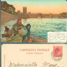 Postales: POSTAL VERONA, ITALIA, PONTE CALTELVECCHIO. Lote 43676754