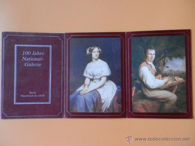 100 JAHRE NATIONAL-GALERIE (8 POSTALES) - STAATLICHE MUSSEN ZU BERLIN/DDR (Postales - Postales Temáticas - Arte)