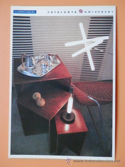 EL DISSENY, 8. LÁMPARA OLVIDADA (PEPE CORTÉS); LÁMPARA DE SOBREMESA SYLVESTRINA (CARCÉS/SÒRIA); MESA (Postales - Postales Temáticas - Arte)