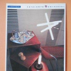 Postales: EL DISSENY, 8. LÁMPARA OLVIDADA (PEPE CORTÉS); LÁMPARA DE SOBREMESA SYLVESTRINA (CARCÉS/SÒRIA); MESA. Lote 43729788