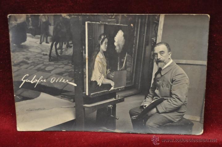 ANTIGUA FOTO POSTAL DEL PINTOR GALOFRE OLLER. PRINCIPIOS DEL SIGLO XX (Postales - Postales Temáticas - Arte)