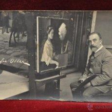 Postales: ANTIGUA FOTO POSTAL DEL PINTOR GALOFRE OLLER. PRINCIPIOS DEL SIGLO XX. Lote 43761738