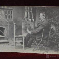 Postales: ANTIGUA FOTO POSTAL DEL PINTOR LLUIS GRANER ARRUFI. PRINCIPIOS DEL SIGLO XX. Lote 43761801