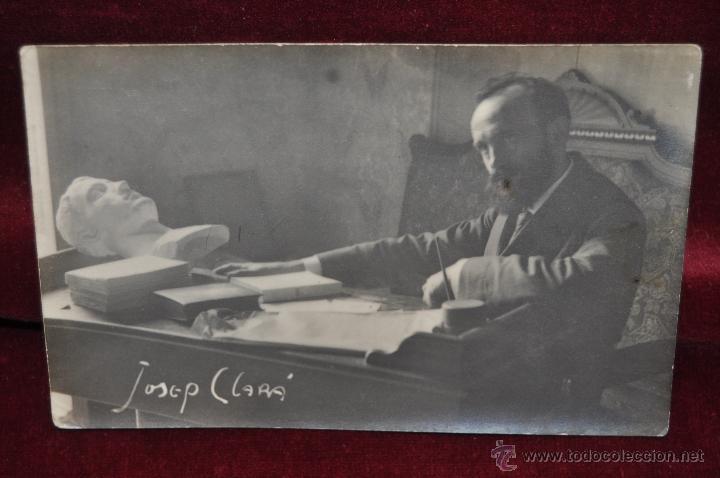 ANTIGUA FOTO POSTAL DEL ESCULTOR JOSEP CLARÀ. PRINCIPIOS DEL SIGLO XX (Postales - Postales Temáticas - Arte)