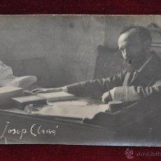Postales: ANTIGUA FOTO POSTAL DEL ESCULTOR JOSEP CLARÀ. PRINCIPIOS DEL SIGLO XX. Lote 43761830