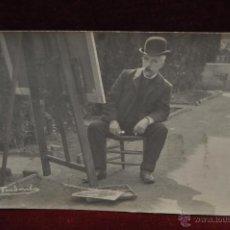 Postales: ANTIGUA FOTO POSTAL DEL PINTOR ARCADI MAS I FONTDEVILA. PRINCIPIOS DEL SIGLO XX. Lote 43761903