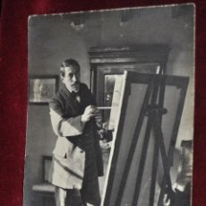 Postales: ANTIGUA FOTO POSTAL DEL PINTOR JOAN LLIMONA. PRINCIPIOS DEL SIGLO XX. Lote 43761964