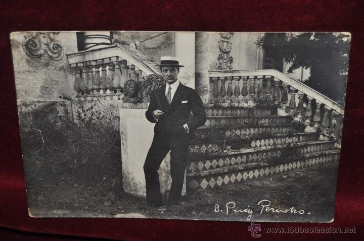 ANTIGUA FOTO POSTAL DEL PINTOR BONAVENTURA PUIG PERUCHO. PRINCIPIOS DEL SIGLO XX (Postales - Postales Temáticas - Arte)