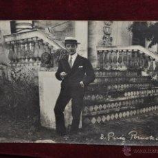Postales: ANTIGUA FOTO POSTAL DEL PINTOR BONAVENTURA PUIG PERUCHO. PRINCIPIOS DEL SIGLO XX. Lote 43762002