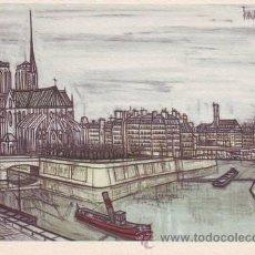 Postales: BERNARD BUFFET: PARIS. LA CITÉ.. Lote 43803841