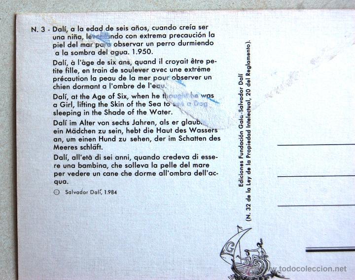 Postales: POSTAL DEL AUTORRETRATO DE DALI CON SEIS AÑOS. - Foto 3 - 44225825