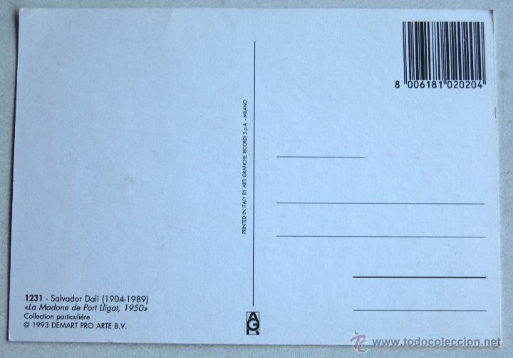Postales: POSTAL DE LA MADONE DE PORT LLIGAT 1950, DE SALVADOR DALÍ. - Foto 2 - 44245233