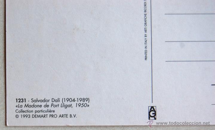 Postales: POSTAL DE LA MADONE DE PORT LLIGAT 1950, DE SALVADOR DALÍ. - Foto 3 - 44245233